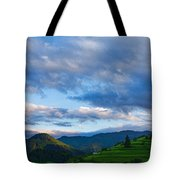 Impressions Of Mountains And Magical Clouds Tote Bag