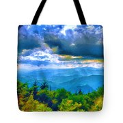 Impressions Of Waterrock Knob On The Blue Ridge Parkway Tote Bag