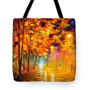 Improvisation Of Trees - Palette Knife Oil Painting On Canvas By Leonid Afremov Tote Bag
