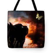 In A Cats Eye All Things Belong To Cats.  Tote Bag