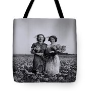 In A Field Of Flowers Vintage Photo Tote Bag