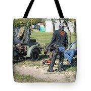 Harley Davidson History Lesson Tote Bag