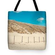 In A Line. Coastal Dunes In Holland Tote Bag