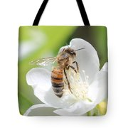 In A Mock Orange Blossom Tote Bag