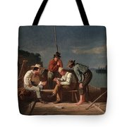 In A Quandary, Or Mississippi Raftsmen Tote Bag