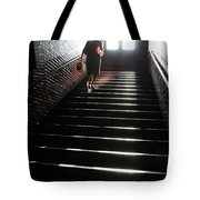 In A Stairwell Tote Bag