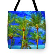 In A World Of Palms Tote Bag