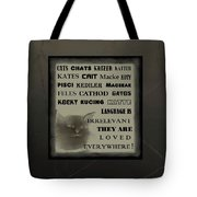 In Any Language We Still Love Cats - Poster  No. 1 Tote Bag