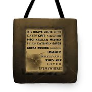 In Any Language We Still Love Cats - Poster  No. 2 Tote Bag