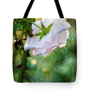 In Early Morning Light - White Rose Tote Bag