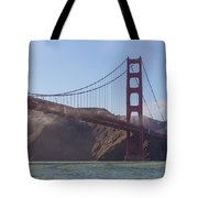 In Flight Over Golden Gate Tote Bag by Scott Campbell