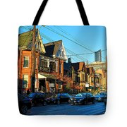 In Front Of The Ago At Dusk Tote Bag