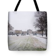 In Front Of The Philadelphia Art Museum Tote Bag