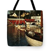 In Harbor Tote Bag by Karol Livote