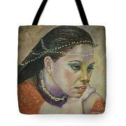 In Her Thoughts Tote Bag
