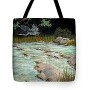 Solitary Heron Tote Bag by Edward Fuller