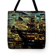 In Perspective - Fire Escapes - Old Buildings Of New York City Tote Bag