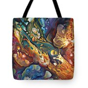 In The Beginning Tote Bag by Ricardo Chavez-Mendez