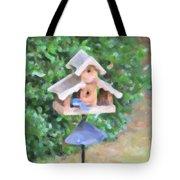 In The Birdhouse - Oil Tote Bag