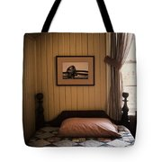 In The Boys Room Tote Bag