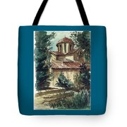 In The Courtyard Tote Bag