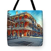 In The French Quarter Painted Tote Bag