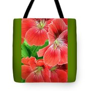 In The Garden. Geranium Tote Bag