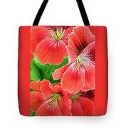 In The Garden. Geranium Tote Bag