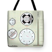 In The Halls Of The Mage-king Tower Levels Tote Bag