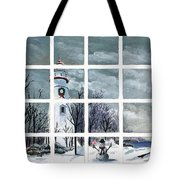 In The Holiday Spirit At Marblehead Tote Bag