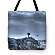 In The Jetty Moss Landing Monterey County  Tote Bag