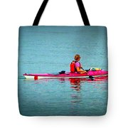 In The Pink Kayaker Tote Bag
