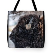 In The Presence Of  Bison - 6 Tote Bag
