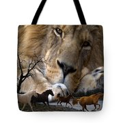 In The Presence Of Elohim Tote Bag