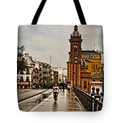 In The Rain - Puente De Triana Tote Bag
