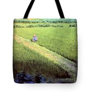 In The Rice Fields Tote Bag