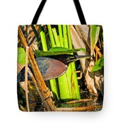 In The Shade Little Green Heron Tote Bag