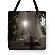 In The Shadow Of His Light Tote Bag