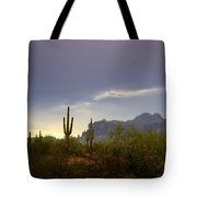 In The Shadows Of The Superstitions  Tote Bag