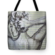 In The Shower 2- Portrait Of A Woman Tote Bag