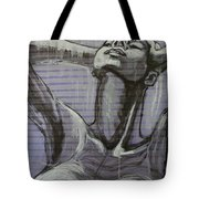 In The Shower - Portrait Of A Woman Tote Bag