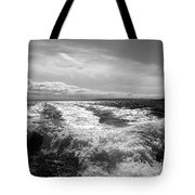In The Wake In Black And White Tote Bag