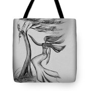 In The Wind She Dances Tote Bag