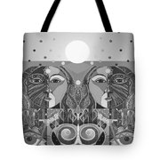 In Unity And Harmony In Grayscale Tote Bag