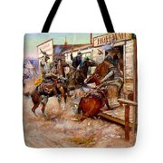 In Without Knocking By Charles M. Russell Tote Bag