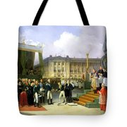 Inauguration Of A Monument In Memory Of Louis Xvi 1754-93 By Charles X 1757-1836 At The Place De La Tote Bag