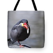 Inca Tern Eating Fish Tote Bag