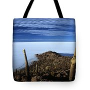 Incahuasi Island And Salar De Uyuni Tote Bag