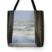 Incoming Tide At 32nd Street Pier Avalon New Jersey Tote Bag