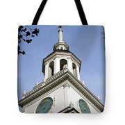 Independence Hall Bell Tower Tote Bag